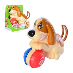 Заводная игрушка «Щенок с мячиком»