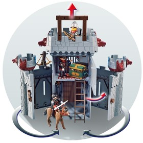 Конструктор Playmobil «Возьми с собой: Черный замок Барона Супер4», 149 деталей