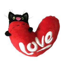 Мягкая игрушка «Кот с сердцем», 23 см в Донецке