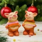 "Souvenir ceramic ""Pig in a knitted striped sweater"" MIX 8,5х4х5,8 cm"