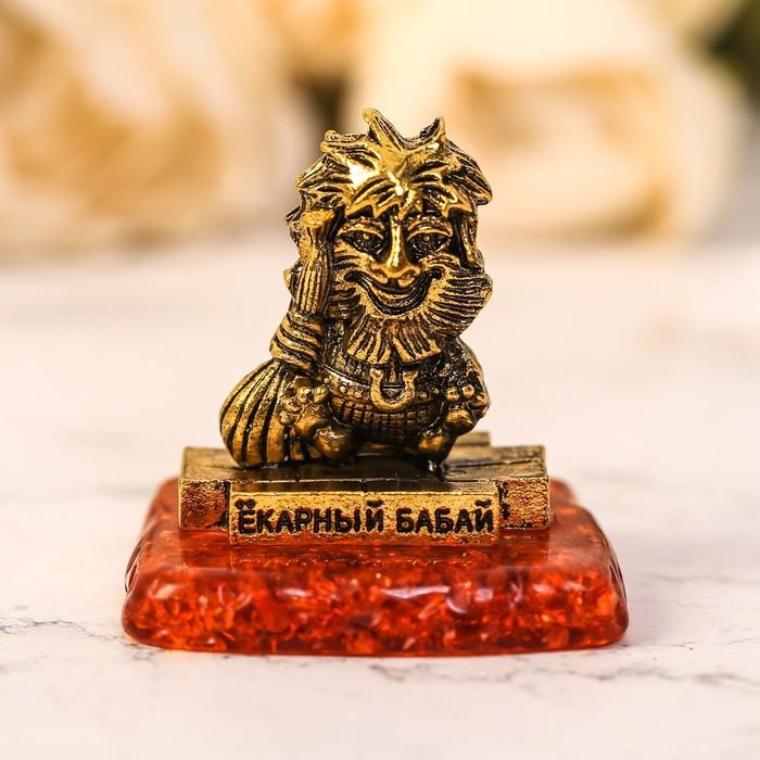 "Фигурка сувенир ""Екарный бабай"" на камне - фото 798041432"
