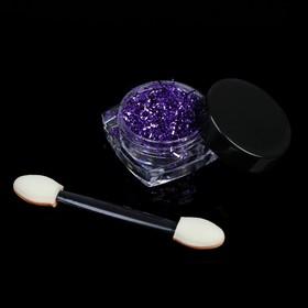 Stirka-threads for nails, 0.1 g, color: purple