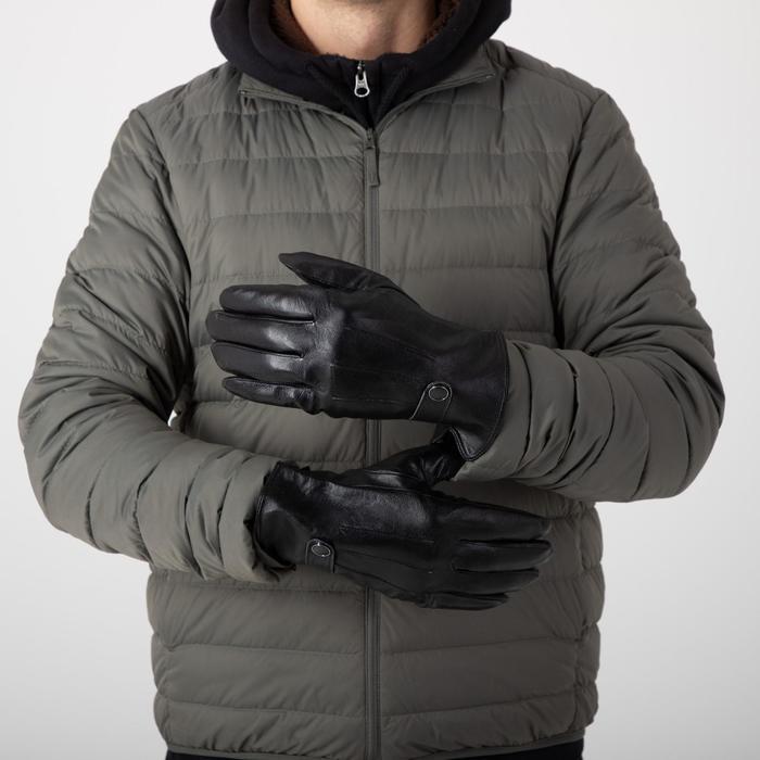 Перчатки мужские, размер 11,5, с утеплителем, цвет чёрный