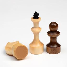 "Шахматы ""Школьник"" (доска дерево 29х29 см,фигуры дерево,король h=7.2 см,пешка h=4.5 см) микс"