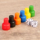Set for table games (6 tiles, 2 dice)