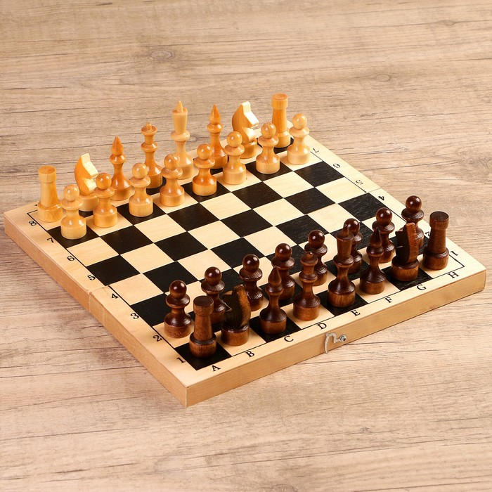 """Настольная игра 3 в 1 """"Орнамент"""": шахматы, шашки, нарды (доска 29 × 29 см, дерево)"""