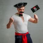 """Карнавальный костюм """"Гроза морей"""", шляпа, пояс, усы, борода"""
