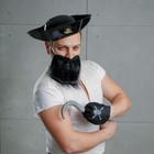 """Карнавальный костюм """"Морской разбойник"""" шляпа, клюк, борода"""