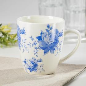 """Кружка 370 мл """"Кантри. Синие цветы"""""""