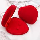 """Футляр под набор """"Сердце"""", 10*8,5*5, цвет красный, вставка красная - фото 7466548"""