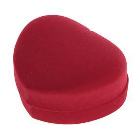 """Футляр под набор """"Сердце"""", 10*8,5*5, цвет красный, вставка красная - фото 7466550"""