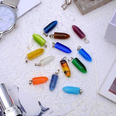Pendant Cat-eye bullet, MIX color