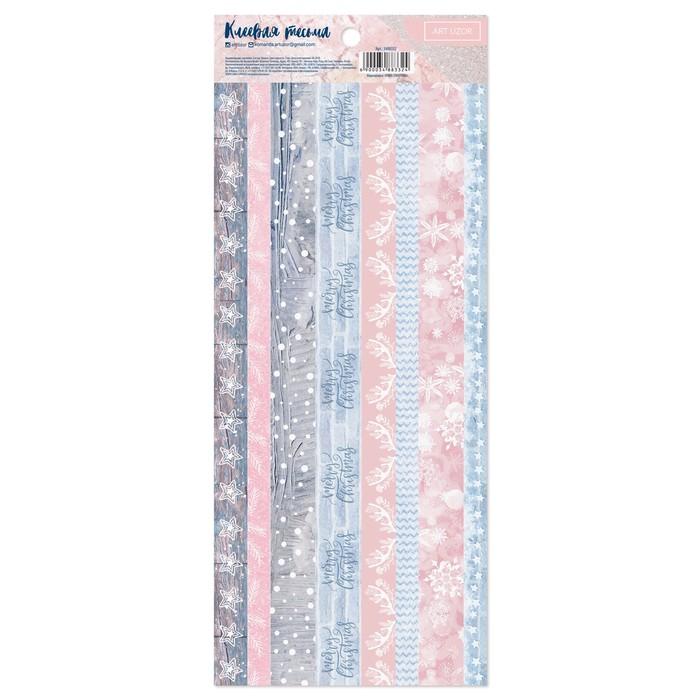 Наклейка-тесьма «Снежная романтика», 12 × 29,5 см