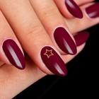 Декоративный элемент для ногтей «Звезда», 0,5x0,6см, 100шт, цвет золотистый