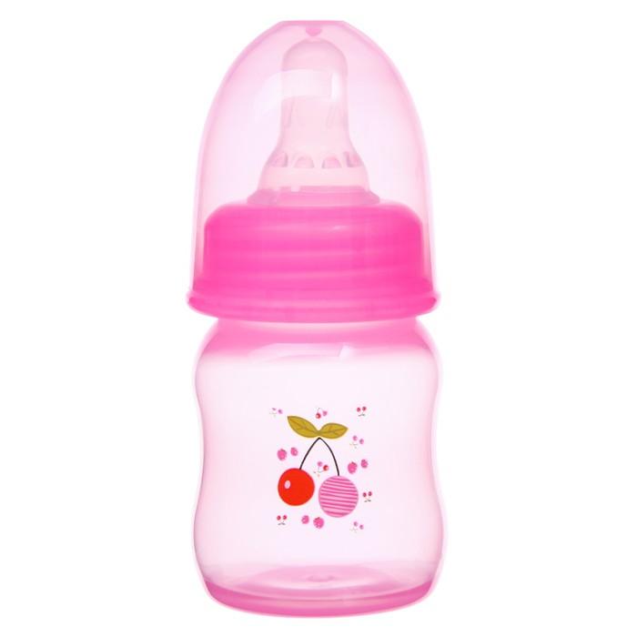 Бутылочка для кормления цветная, 60 мл, от 0 мес., цвета МИКС для девочки - фото 105537691