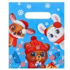 Пакет подарочный полиэтиленовый «Веселые зверята», 17 × 20 см