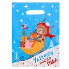 Пакет подарочный полиэтиленовый «Улетного Нового года», 23 × 29,5 см