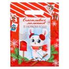 Пакет подарочный полиэтиленовый «Новогодняя почта», 23 × 29,5 см