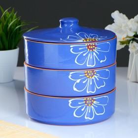 """Набор для холодца """"Цветок"""" фиолетовый, размер 1 шт. 57 х 172 мм"""