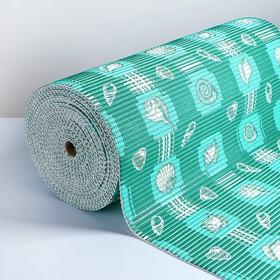 Коврик для ванной комнаты «Морской», 0,65×15 см, ПВХ, цвет зелёный
