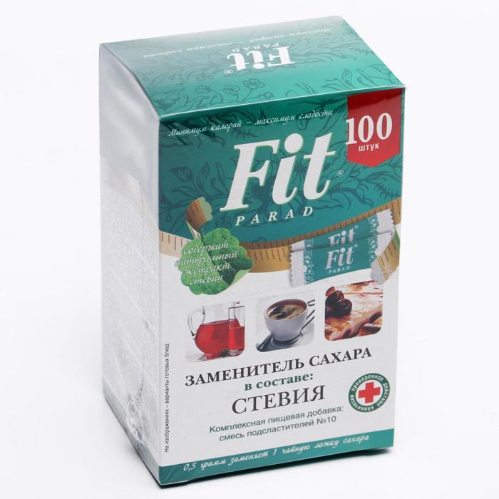 Заменитель сахара ФитПарад на эритрите и стевии №10 саше 50 г (100 штук) - фото 16389