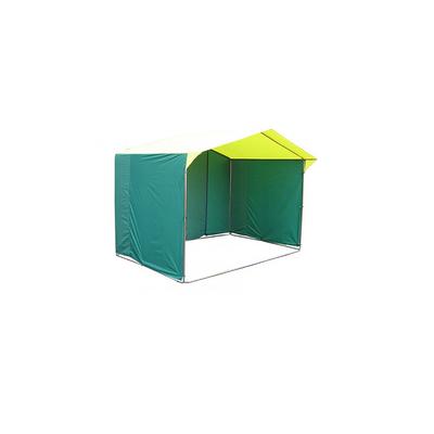Палатка торговая 1,9*1,9, козырёк 30 см, труба d18мм, цвет жёлто-зелёный