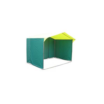 Палатка торговая 2,5*1,9, козырёк 30 см, труба d18мм, цвет жёлто-зелёный