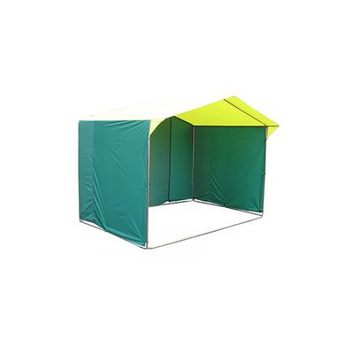 Палатка торговая 3,0*1,9, козырёк 30 см, труба d18мм, цвет жёлто-зелёный