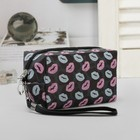 Cosmetic bag road, division zipper, with handle, colour black