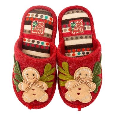 Тапочки детские 2669 K-LMC-W, цвет красный, размер 34