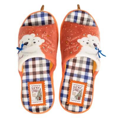 Тапочки женские 3073 W-ASO-W, цвет оранжевый, размер 41