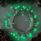 """Гирлянда """"Нить"""", 5 м, LED-50-220V, 8 режимов, нить прозрачная, свечение зелёное"""
