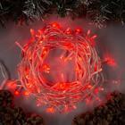 """Гирлянда """"Нить"""", 10 м, LED-100-220V, 8 режимов, нить прозрачная, свечение красное"""