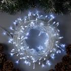 """Гирлянда """"Нить"""", 20 м, LED-200-220V, 8 режимов, нить прозрачная, свечение белое"""