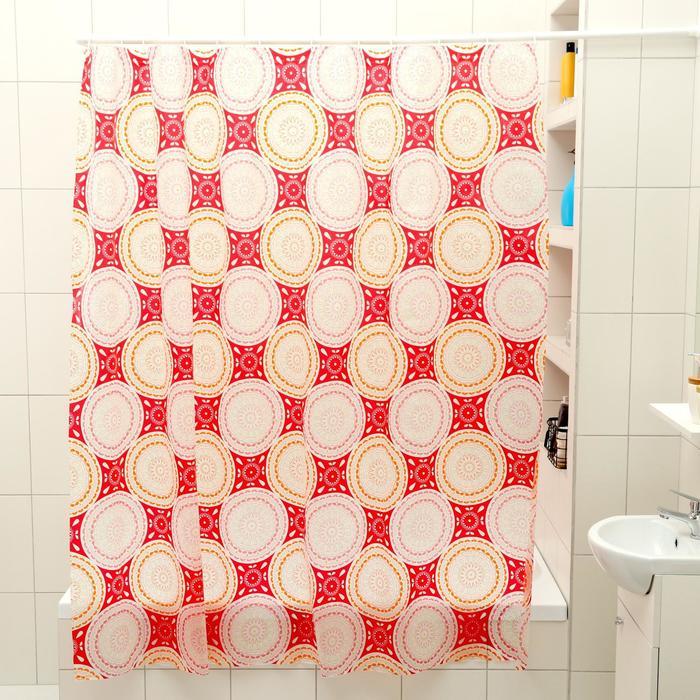 "Штора для ванной 180×180 см ""Винтаж"""