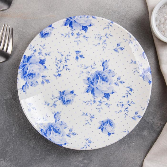 """Тарелка 19 см """"Кантри. Синие цветы"""""""