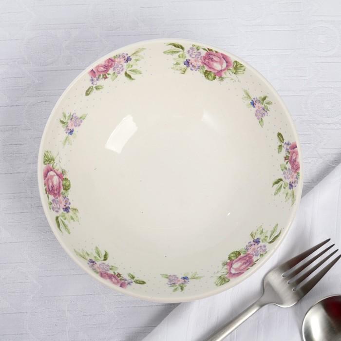 """Салатник 500 мл """"Кантри. Розовые цветы"""", 17 см"""