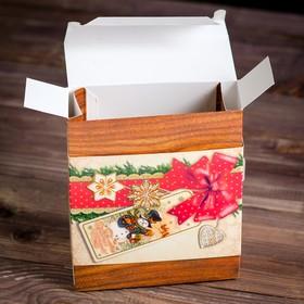 """A cardboard box """"a Magical New year!"""", 18.5 x 16 x 6 cm"""