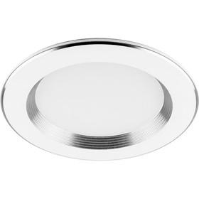 Встраиваемый светодиодный светильник AL615, 7W, 560 Lm, 4000К, цвет белый, d=85мм