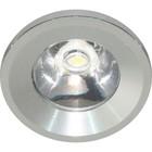 Встраиваемый светодиодный светильник G770, 1 LED, 1 W, цвет серебро, d=25мм