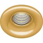 Встраиваемый светодиодный светильник LN003, 3W, 210 Lm, 4000К, цвет золото, d=40мм