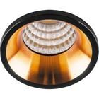 Встраиваемый светодиодный светильник LN003, 3W, 210 Lm, 4000К, цвет черный, золото, d=40мм
