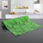 """Коврик противоскользящий сервировочный """"Цветы""""30х150 см, цвет зеленый"""