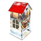 Чайный домик «Хрюша и Дед Мороз», 9,3×9,3×20 см