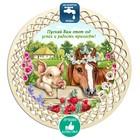 Поднос «Свинья с лошадкой», D = 20,8 см