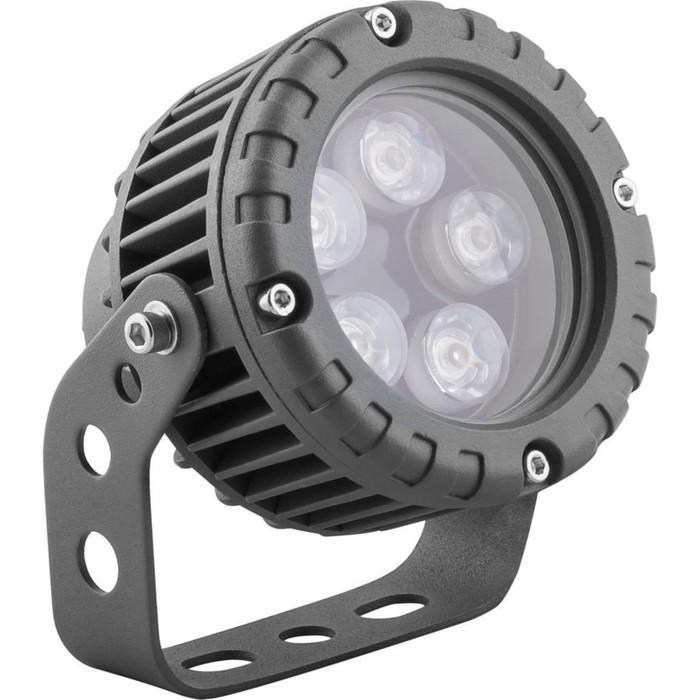 Прожектор светодиодный LL-882, 5W, свет зеленый, IP65, цвет металлик