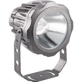 Прожектор светодиодный LL-886, 10W, свет холодный белый, IP65, цвет металлик