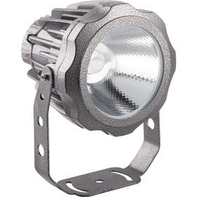 Прожектор светодиодный LL-886, 10W, свет зеленый, IP65, цвет металлик