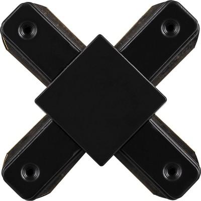 Коннектор Х-образный для шинопровода LD1002, цвет черный