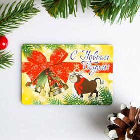"Magnet ""happy New Year!"" the mouse on the tree, 9 x 6 cm"